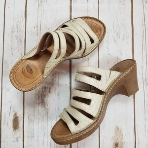 Nurture   Cream Wedge Sandals